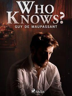 Maupassant, Guy de - Who Knows?, e-kirja