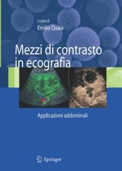 Quaia, Emilio - Mezzi di contrasto in ecografia, ebook