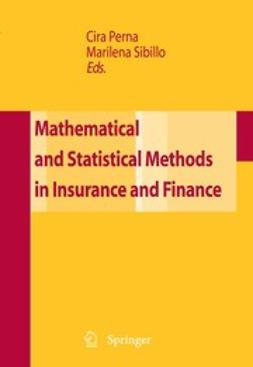 Mathematical and Statistical Methods in Insurance and Finance