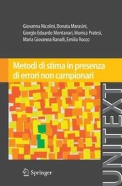 Nicolini, Giovanna - Metodi di stima in presenza di errori non campionari, ebook