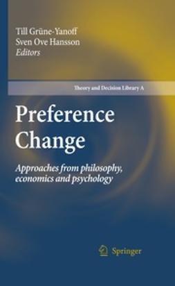 Grüne-Yanoff, Till - Preference Change, ebook