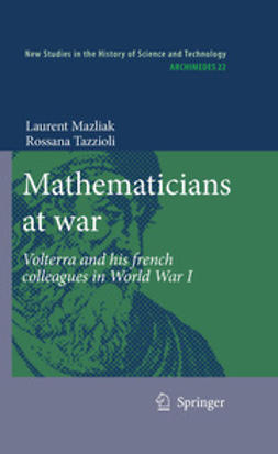 Mazliak, Laurent - Mathematicians at war, ebook