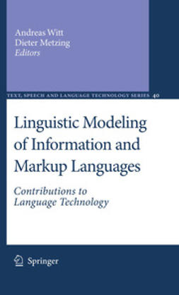 Witt, Andreas - Linguistic Modeling of Information and Markup Languages, ebook