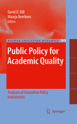 Dill, David D. - Public Policy for Academic Quality, ebook