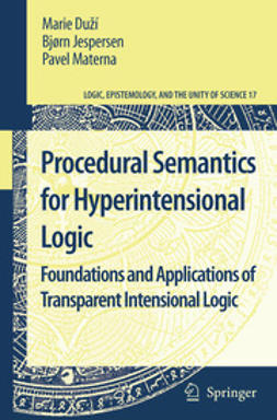 Duží, Marie - Procedural Semantics for Hyperintensional Logic, ebook