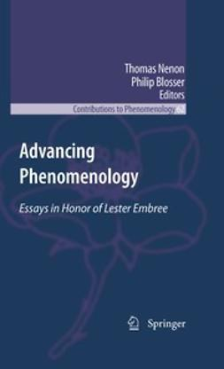 Nenon, Thomas - Advancing Phenomenology, ebook