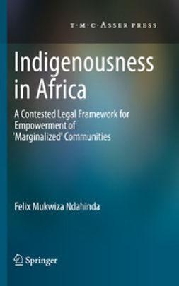 Ndahinda, Felix Mukwiza - Indigenousness in Africa, ebook