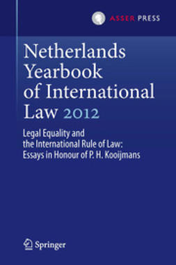 Nijman, Janne Elisabeth - Netherlands Yearbook of International Law 2012, ebook