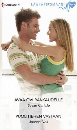 Carlisle, Susan - Avaa ovi rakkaudelle / Puolitiehen vastaan, ebook