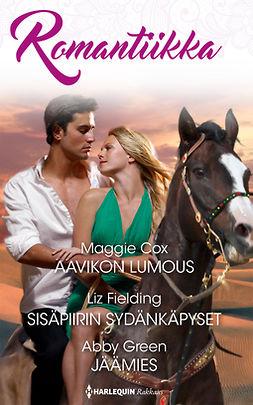 Cox, Maggie - Aavikon lumous / Sisäpiirin sydänkäpyset / Jäämies, e-kirja