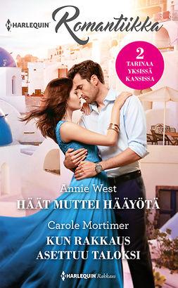 Mortimer, Carole - Häät muttei hääyötä / Kun rakkaus asettuu taloksi, ebook