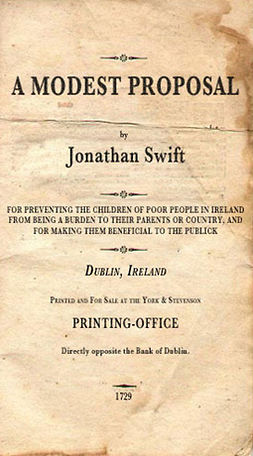 Swift, Jonathan - A Modest Proposal, e-kirja