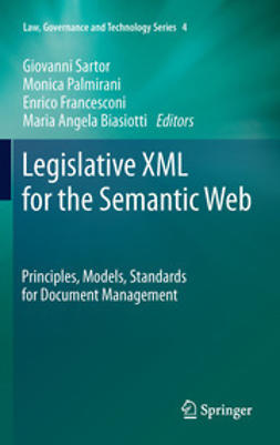 Sartor, Giovanni - Legislative XML for the Semantic Web, ebook