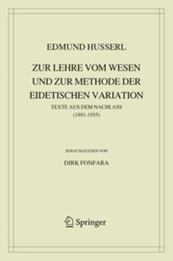 Fonfara, Dirk - Zur Lehre vom Wesen und zur Methode der eidetischen Variation, ebook