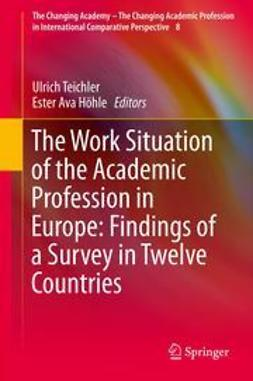 Teichler, Ulrich - The Work Situation of the Academic Profession in Europe: Findings of a Survey in Twelve Countries, ebook