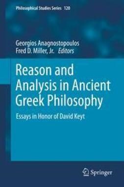 Anagnostopoulos, Georgios - Reason and Analysis in Ancient Greek Philosophy, ebook