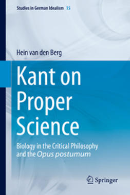 Berg, Hein van den - Kant on Proper Science, ebook