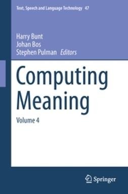 Bunt, Harry - Computing Meaning, e-kirja