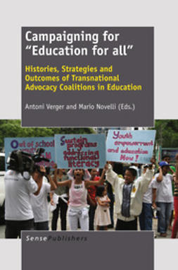 """Verger, Antoni - Campaigning for """"Education for All"""", e-kirja"""