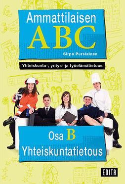 Pursiainen, Sirpa - Ammattilaisen ABC. Yhteiskunta-, yritys- ja työelämätietous: Osa B: Yhteiskuntatietous, e-kirja