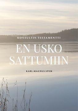 Spiik, Karl-Magnus - En usko sattumiin: Konsultin testamentti, e-kirja