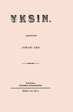 Aho, Juhani - Yksin, ebook