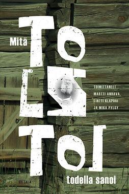 Anhava, Martti - Mitä Tolstoi todella sanoi: Kirjoituksia Leo Tolstoista, e-kirja