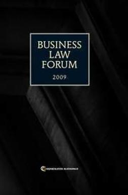 Business Law Forum 2009