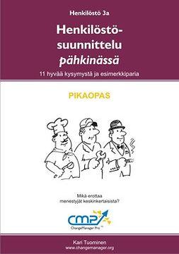 Tuominen, Kari - Henkilöstösuunnittelu pähkinässä -  3a, e-kirja