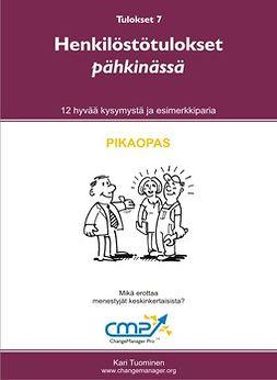 Tuominen, Kari - Henkilöstötulokset pähkinässä -  7, e-kirja