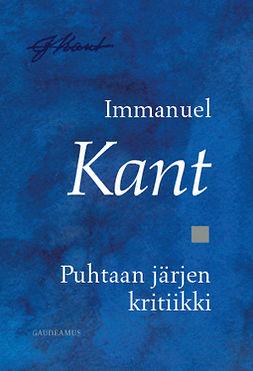Kant, Immanuel - Puhtaan järjen kritiikki, e-kirja