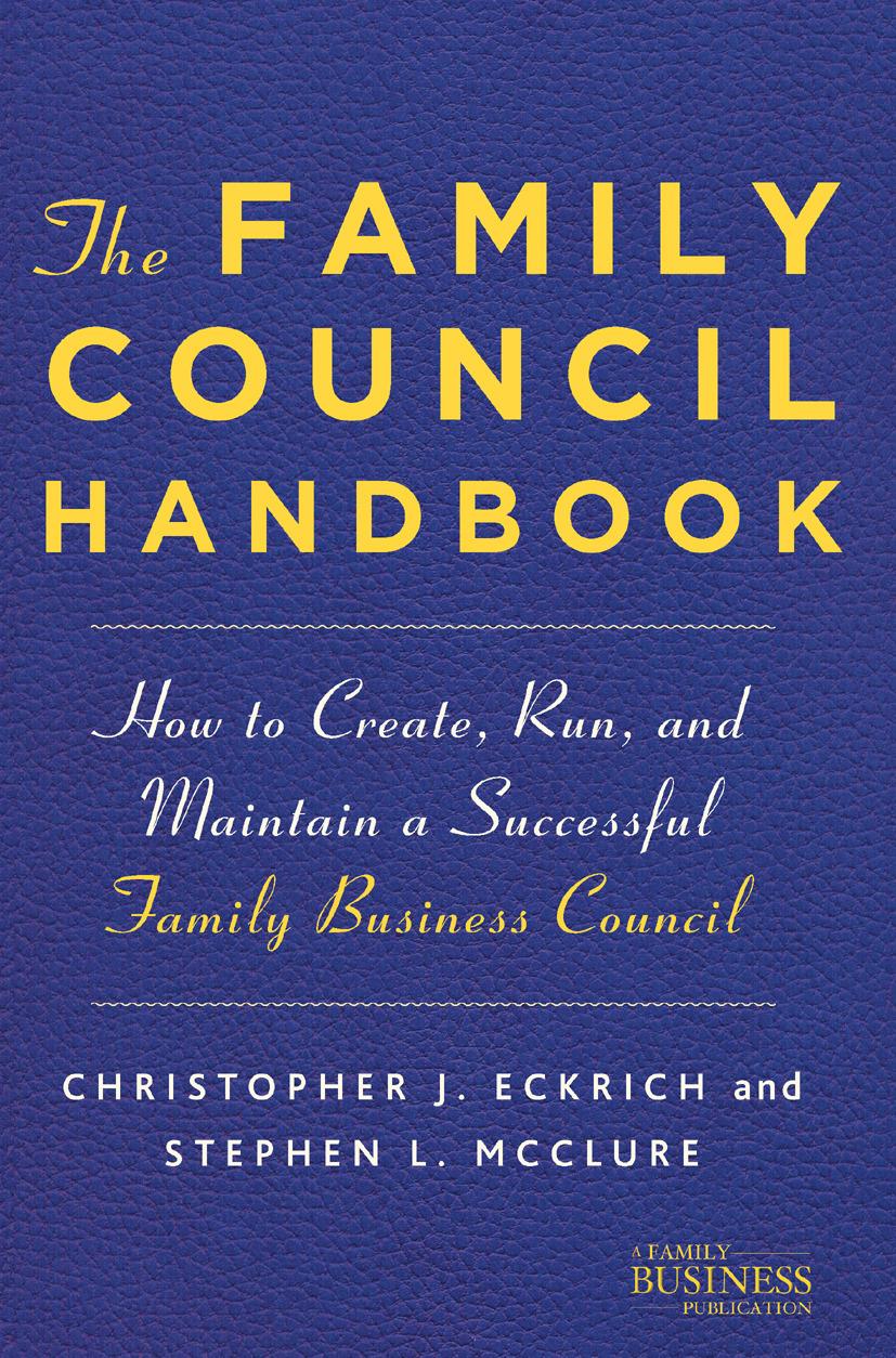 Eckrich, Christopher J. - The Family Council Handbook, ebook