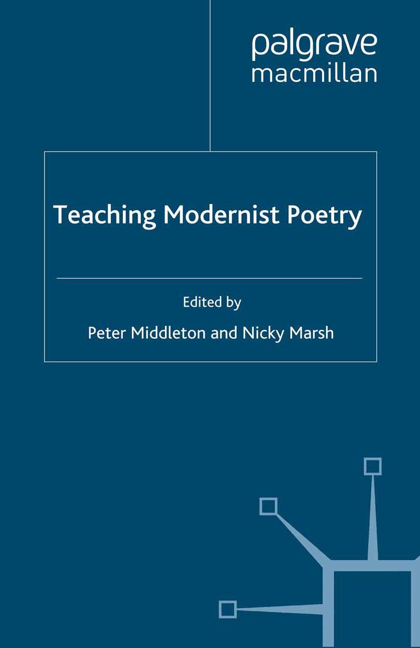 Marsh, Nicky - Teaching Modernist Poetry, ebook