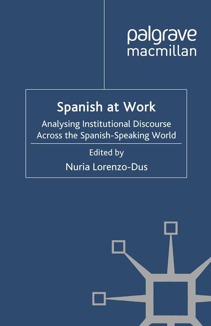 Lorenzo-Dus, Nuria - Spanish at Work, ebook