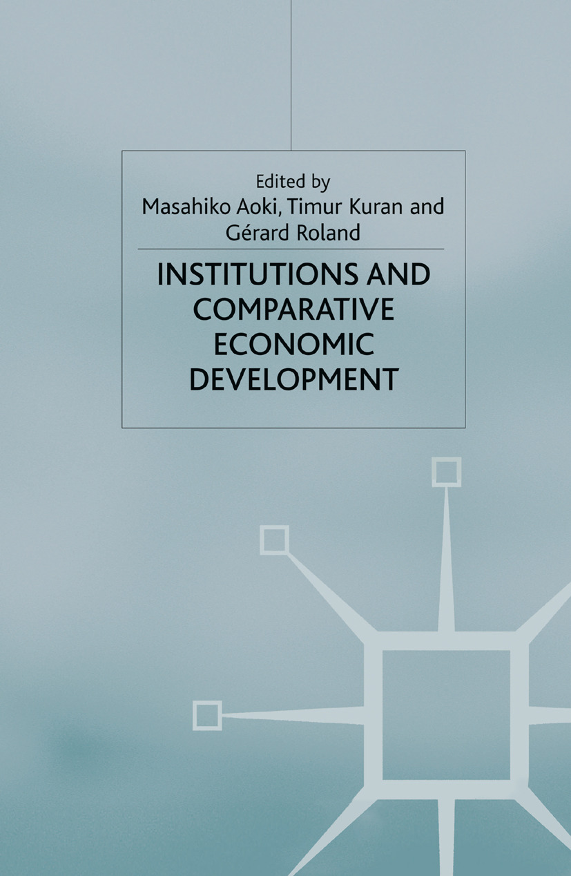 Aoki, Masahiko - Institutions and Comparative Economic Development, ebook