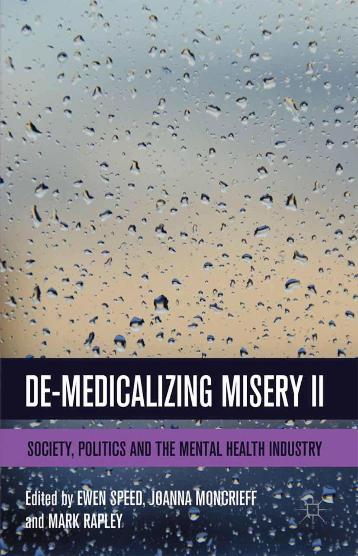 Moncrieff, Joanna - De-Medicalizing Misery II, ebook