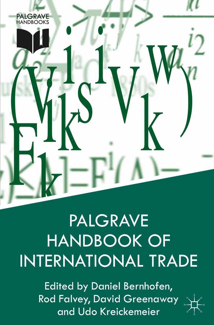 Bernhofen, Daniel - Palgrave Handbook of International Trade, ebook