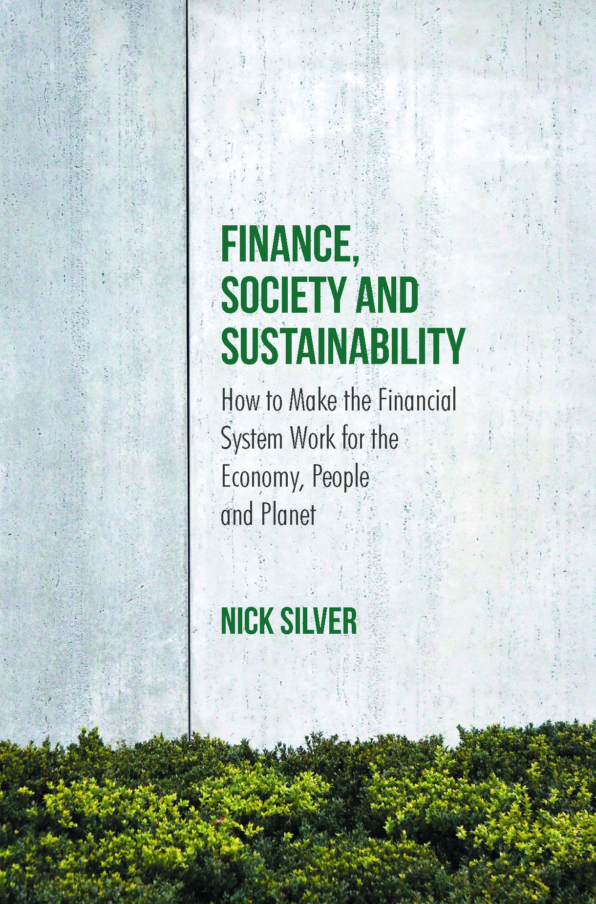 Silver, Nick - Finance, Society and Sustainability, ebook