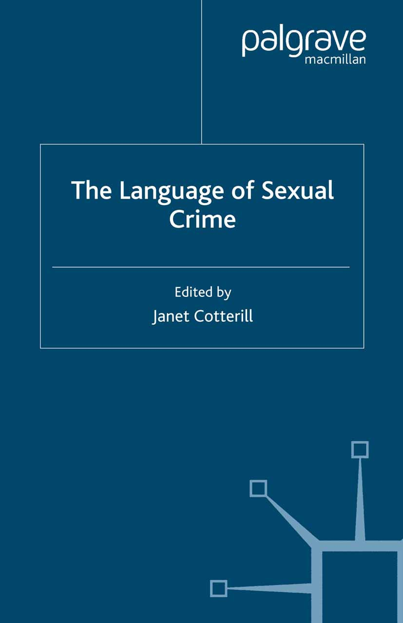 Cotterill, Janet - The Language of Sexual Crime, ebook