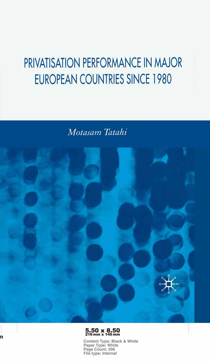 Tatahi, Motasam - Privatisation Performance in Major European Countries Since 1980, ebook