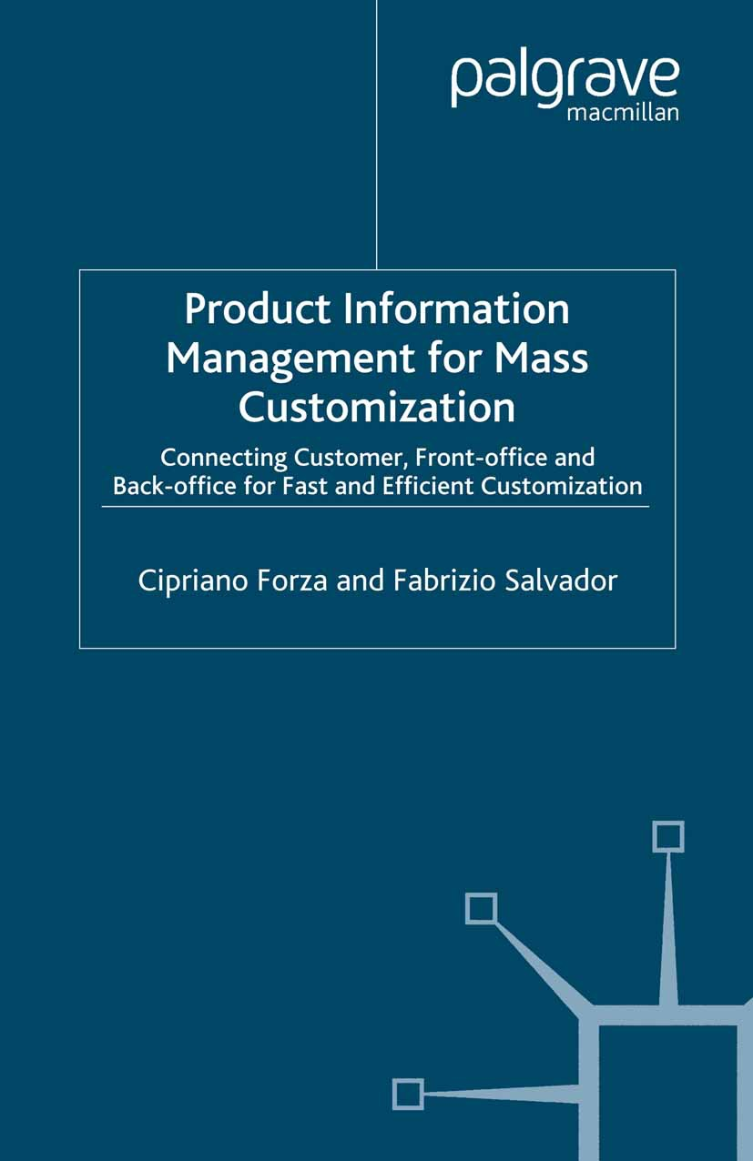 Forza, Cipriano - Product Information Management for Mass Customization, ebook
