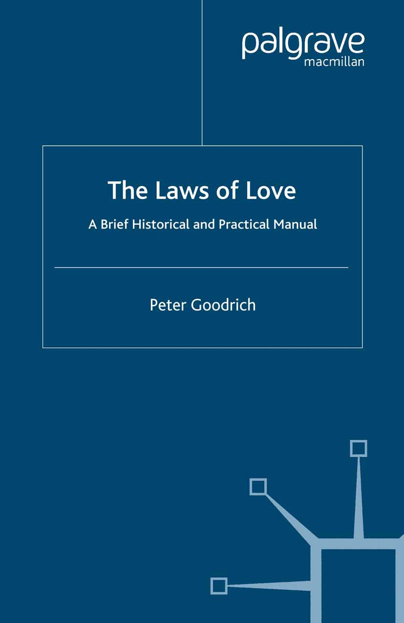 Goodrich, Peter - The Laws of Love, ebook