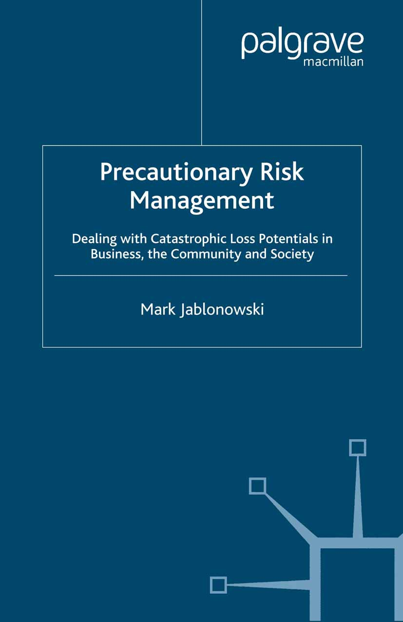 Jablonowski, Mark - Precautionary Risk Management, ebook