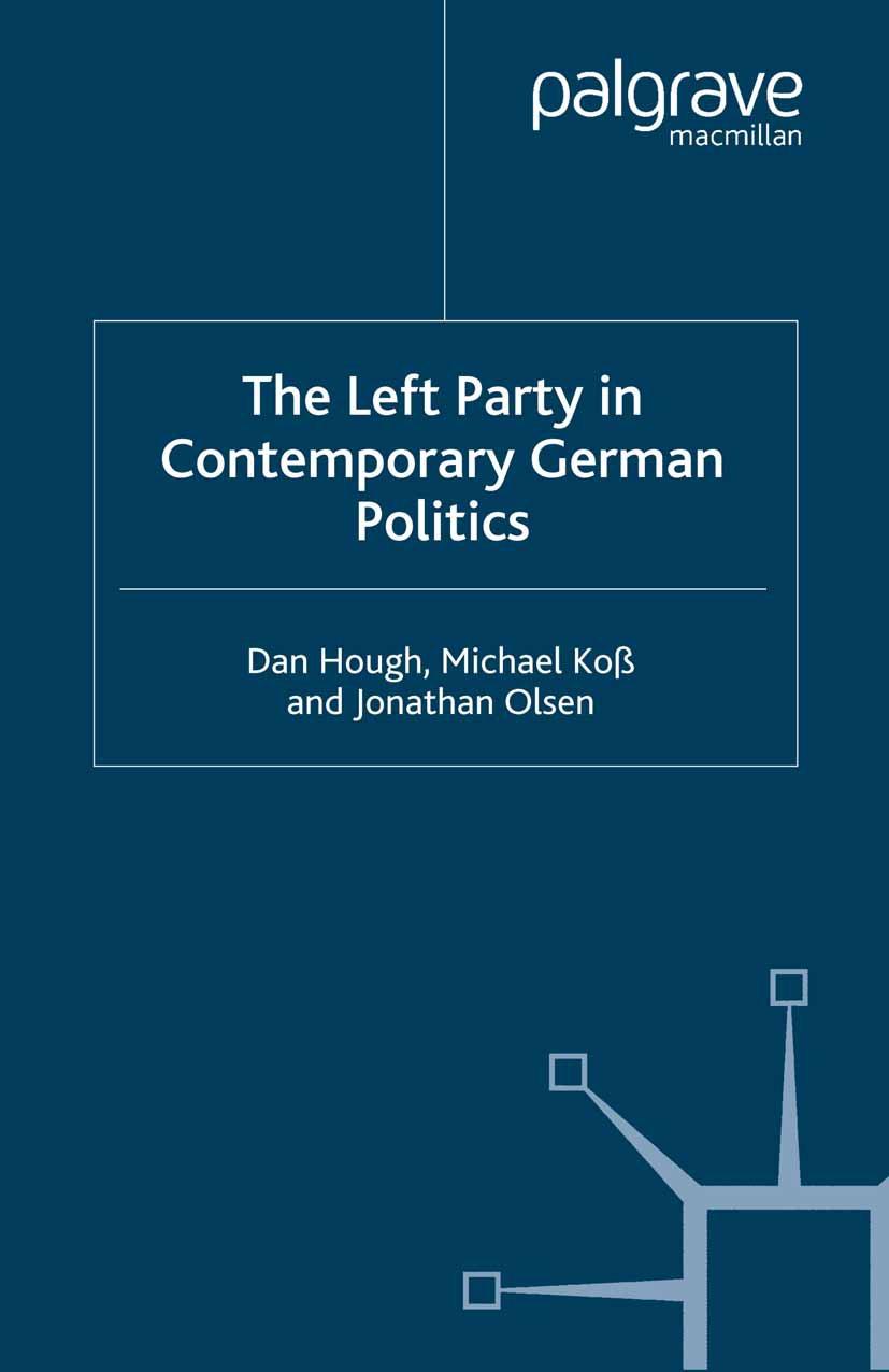 Hough, Dan - The Left Party in Contemporary German Politics, ebook