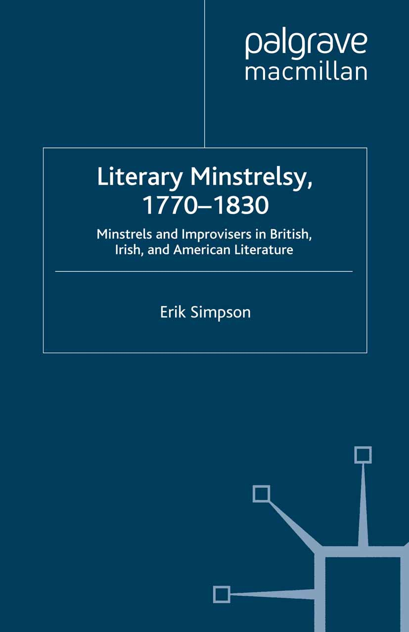 Simpson, Erik - Literary Minstrelsy, 1770–1830, ebook