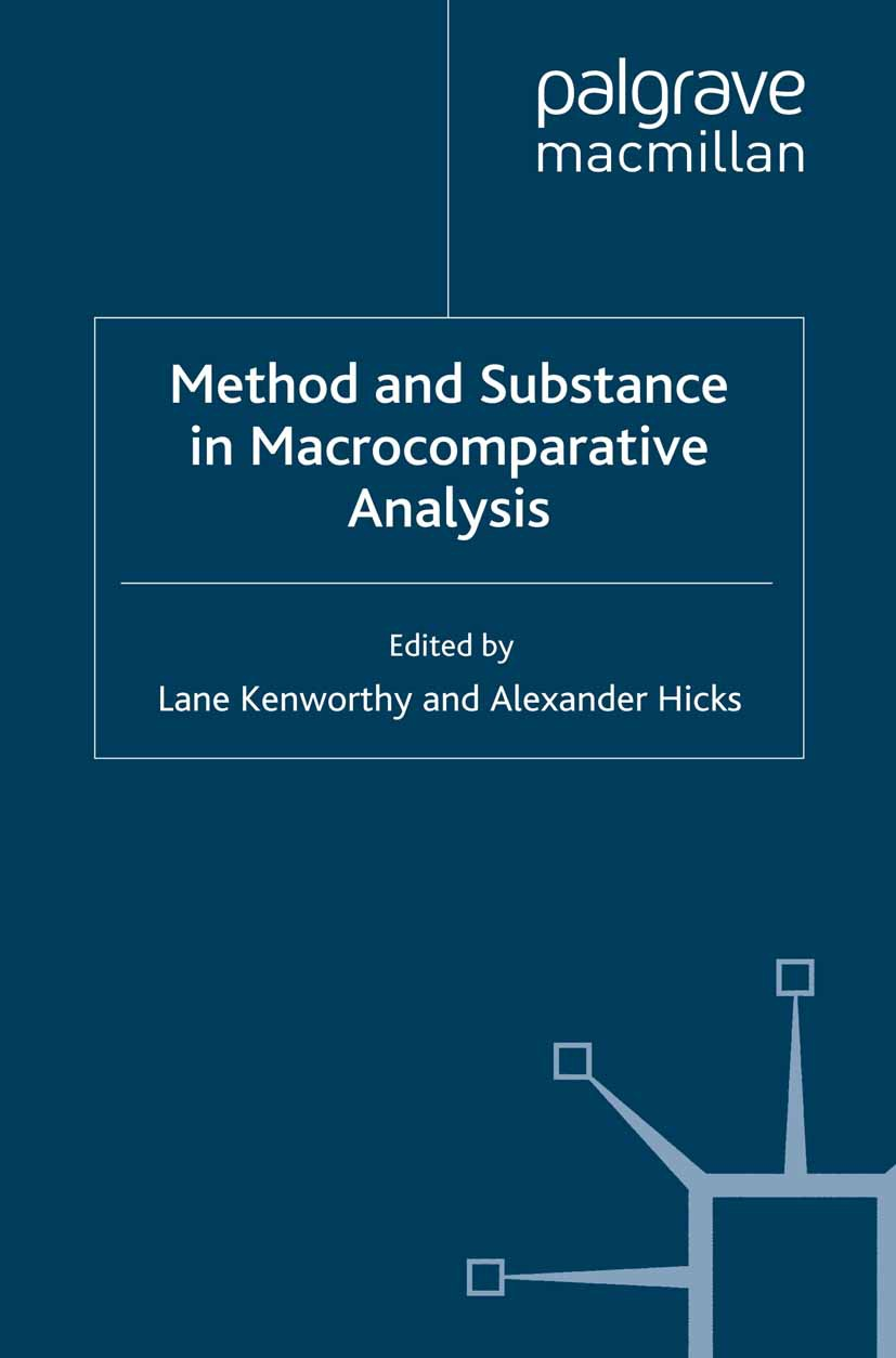 Hicks, Alexander - Method and Substance in Macrocomparative Analysis, ebook