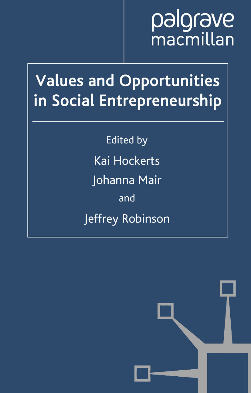 Hockerts, Kai - Values and Opportunities in Social Entrepreneurship, ebook