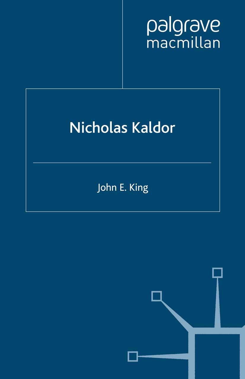 King, John E. - Nicholas Kaldor, ebook