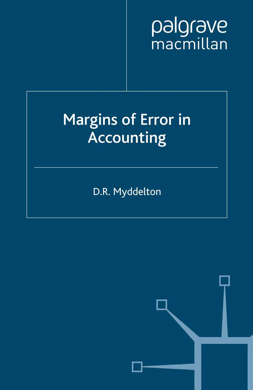 Myddelton, D. R. - Margins of Error in Accounting, ebook