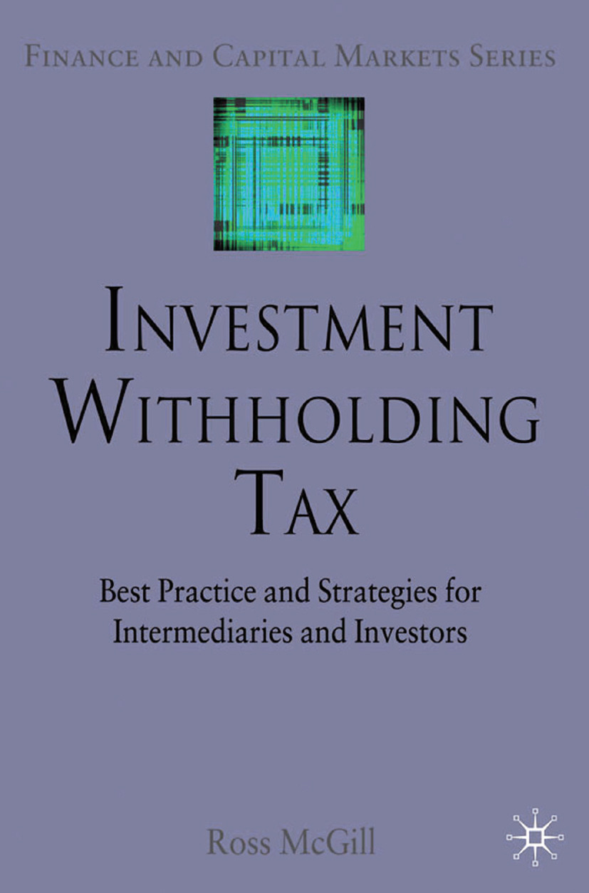 McGill, Ross - Investment Withholding Tax, ebook